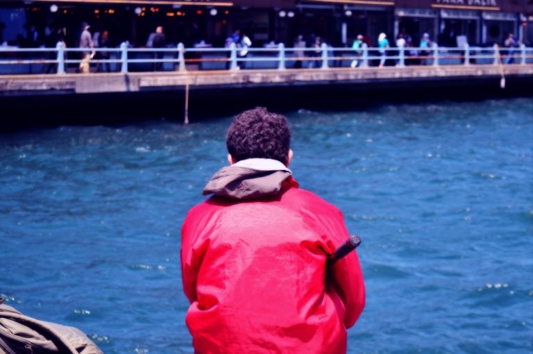 fishing galata bridge istanbul turkey cananche canan çetin